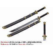 Espada Medieval Barbaro 102cm Lançamento Aço Sf301