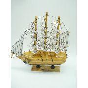 Barco Caravela Veleiro Madeira Decorativa Presente 23cm