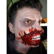 Maquiagem De Terror Slug Ferida Sangue Falso E Queimadura