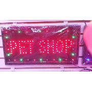 Letreiro Luminoso Placa De Led Pet Shop