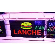 Letreiro Luminoso Placa De Led Lanche