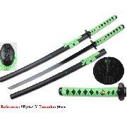 Espada Samurai 98cm Katana Dragão Verde Oriental Sf3024-y