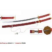Espada Samurai 98cm Katana Vermelha Oriental Vintage Retro