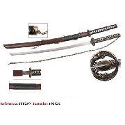 Espada Samurai Corrente 100cm Aço Oriental Katana