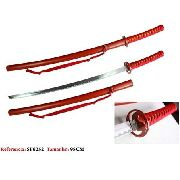 Espada Samurai 98cm Katana Red Dragon Aço Oriental Vintage