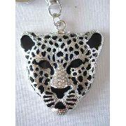Chaveiro Onça Pintada Leopardo Com Brilhos