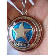 Chaveiro Capitao America Vingadores Em Metal Escudo