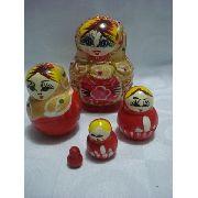 Boneca Matryoshka Russa 5 Peças Red