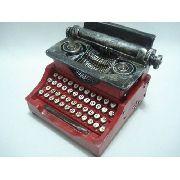 Cofre Resina Máquina Escrever Miniatura Vintage Envelhecido