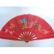 Leque Oriental Red Dragon Dança Kung Fu Tai Chi Chuan