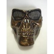 Mascara Full Face Skull Vintage Caveira Marrom