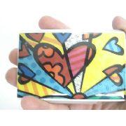 Porta Cartão De Visitas Romero Britto Inox