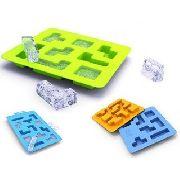 Forma De Gelo Silicone Iceblocks Peças Tetris