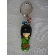 Chaveiro Kokeshi Boneca Japonesa Verde