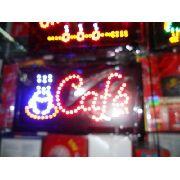 Letreiro Luminoso Placa De Led Café