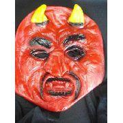 Mascara Diabo Latex Capeta Festa Fantasia Haloween Terror