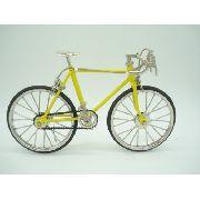 Miniatura Bicicleta Amarela Vintage Corrida Mini Bike
