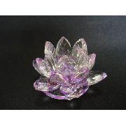Flor De Lótus De Cristal Lilas 9cm