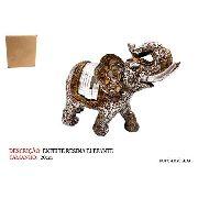 Enfeite Resina Elefante Estátua 20cm Decoração