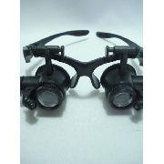 Lupa Óculos Joalheiro 4 Lentes Articulada Profissional