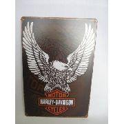 Placa Metal Vintage Harley Davidson 30x20 Decoração Coleção