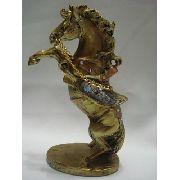 Enfeite Resina Cavalo Estátua 22cm Decoração