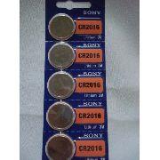 Bateria Sony Cr2016 Lithium 3v 5 Peças