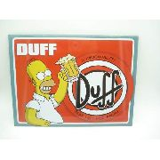 Placa Metal Os Simpsons Homer E Duff 26x20cm