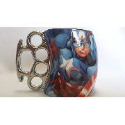 Caneca Porcelana Capitão America Vingadores Coleção Presente