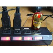 Hub Usb 2.0 4 Portas Alta Velocidade Pendrive Mouse Teclado