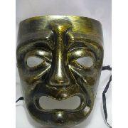 Mascara Teatro Dourada Drama Carnaval Festa Vintage