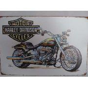 Placa Metal Harley Davidson Vintage 30x20 Decoração Coleção