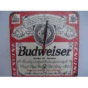 Relógio De Parede Budweiser Vintage Retro