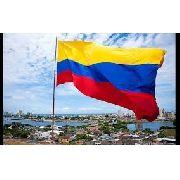 Bandeira Colombia 1,5mx90cm Festas Decoração