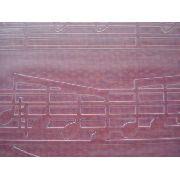 Placa Textura Embossing Folder Notas Musicais 14cmx14cm