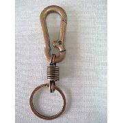 Chaveiro Metal Mosquetão Argola Bronze