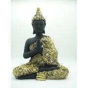Enfeite Resina Buda Sentado Estátua 25cm Decoração Oriental