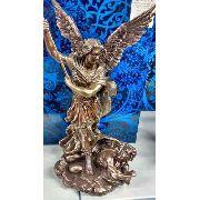 Enfeite Resina Arcanjo Estátua 34cm Decoração