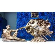 Enfeite Resina Criação Do Homem Estátua 30cm Decoração
