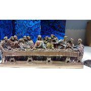 Enfeite Resina Santa Ceia Jesus Estátua 30cm Decoração