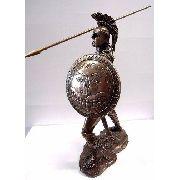 Enfeite Resina Ajax Studio Collection Estatua 25cm Decoração