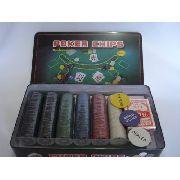Kit Poker 300 Fichas 2 Baralhos Dealer