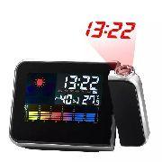 Relógio Digital Projetor Lcd Despertador Calendario Term