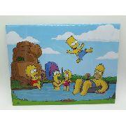 Placa Metal Os Simpson Familia Férias 26x20cm