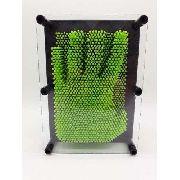 Captador De Imagens Pinart 3d Verde Escultura Pregos Medio