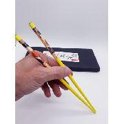 Kit 5 Pares Palito Petisco Hashi Bambu Sushi Sashimi