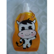 Garrafa De Água Dobrável Vaca Flexível Reutilizável