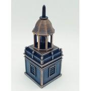 - Apontador Torre Com Sino Campanário Metal Coleção