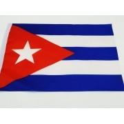 Bandeira Cuba 30x19cm Festas Decoração Poliéster