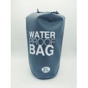 - Bolsa Saco Estanque 2 Litros Impermeável Prova D'agua Cinza
